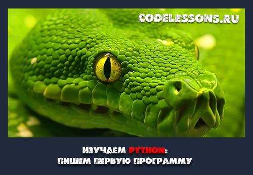изучаем python: пишем первую программу